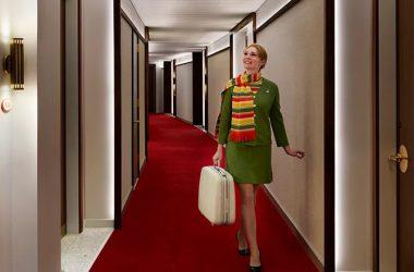 ニューヨークのJFK(ジョン・エフ・ケネディ)国際空港でオープンした、レトロモダンなTWA ホテル