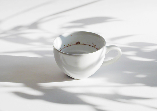 Tiny Landscape in a Coffee Cup