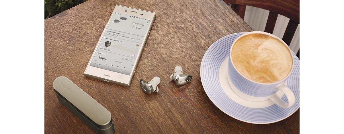 Sony ワイヤレス Bluetooth イヤホン WF-1000X © Sony
