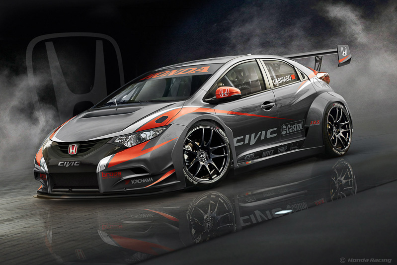 Honda Civic WTCC スケッチ