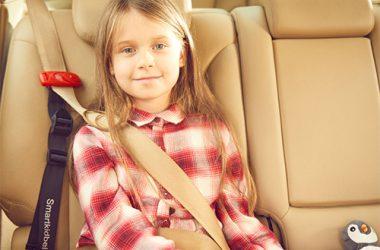 シートベルトに装着するだけで、チャイルドシートの代わりになるスマートキッズベルト